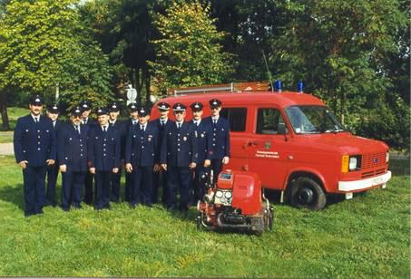 Die freiwillige Feuerwehr im Jahre 1999